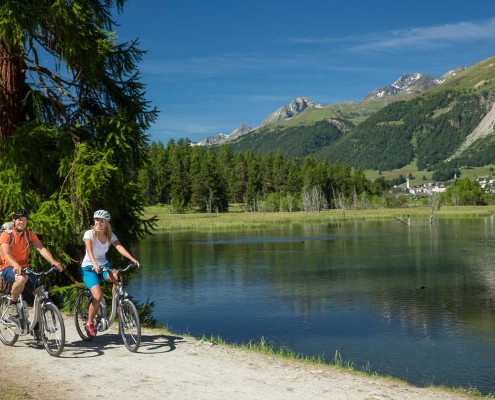 Engadin, E-Bike-Tour, Seen